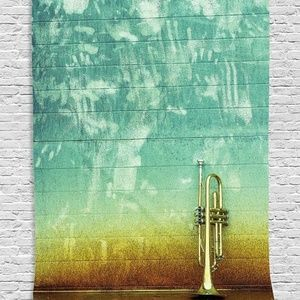 Tapestry Leaning Trumpet Wall Hanging Backdrop